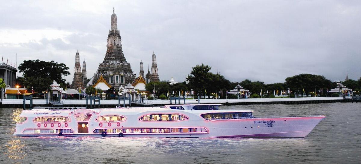 ล่องเรือ<วัดช่องลม-ท่าเรือริเวอร์ซิตี้> (one way) 13.00-16.00 น.