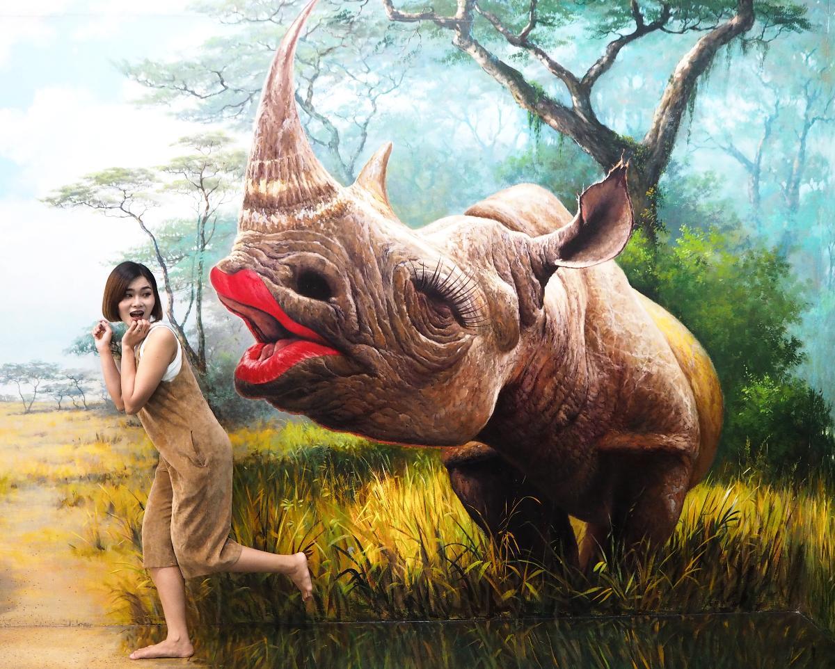 Amazing!! 3D painting technology AR @Art In Paradise Pattaya